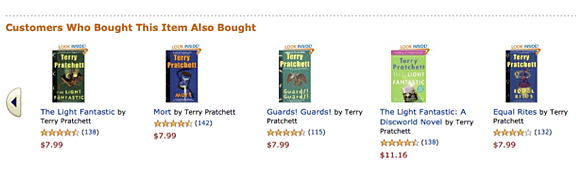 Terry Pratchett books at Amazon