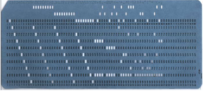 80-column punch card.