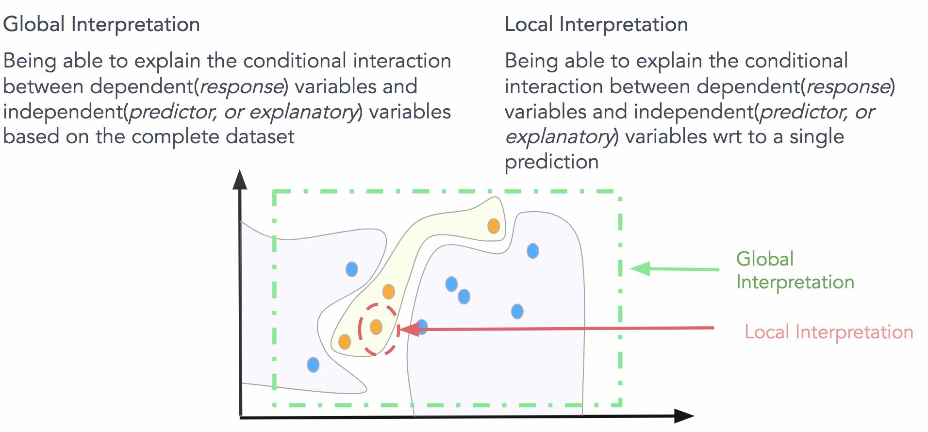 Summarizing global and local interpretation