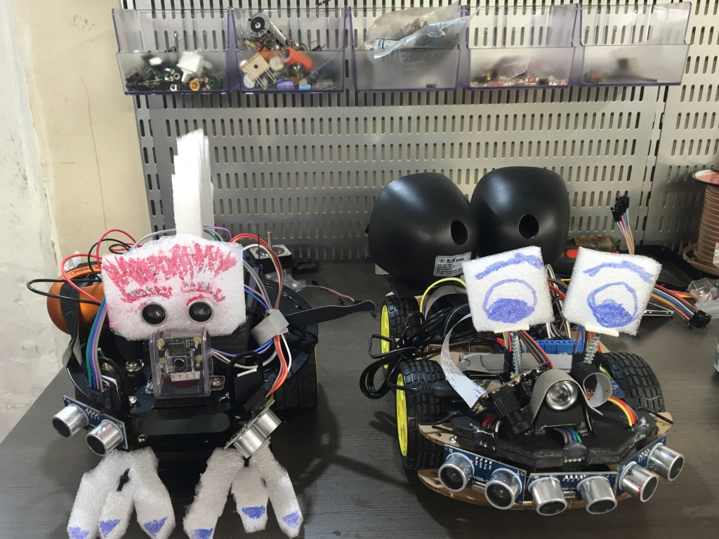 My 4WD robot and her 2WD older brother