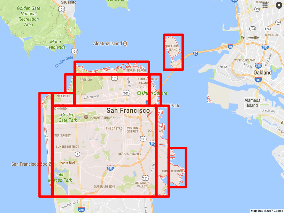 Using QuadTree to index San Francisco