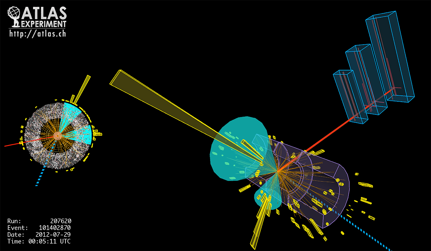 A particle collision in the ATLAS detector