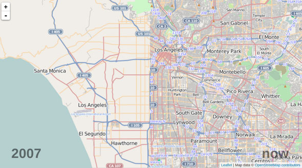 OSM-la-then-and-now