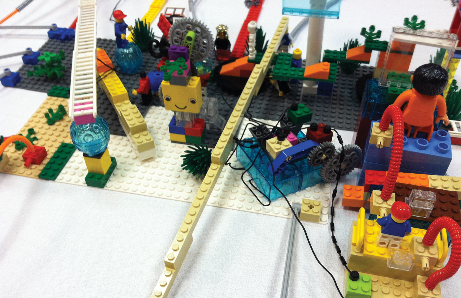 Legos showing interconnections and relationships
