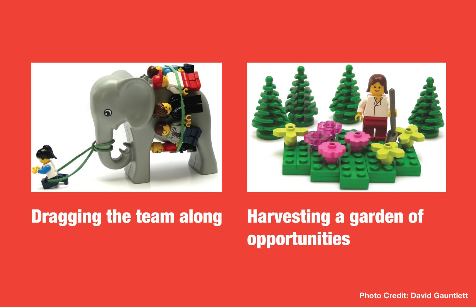 Exploring metaphors with Legos