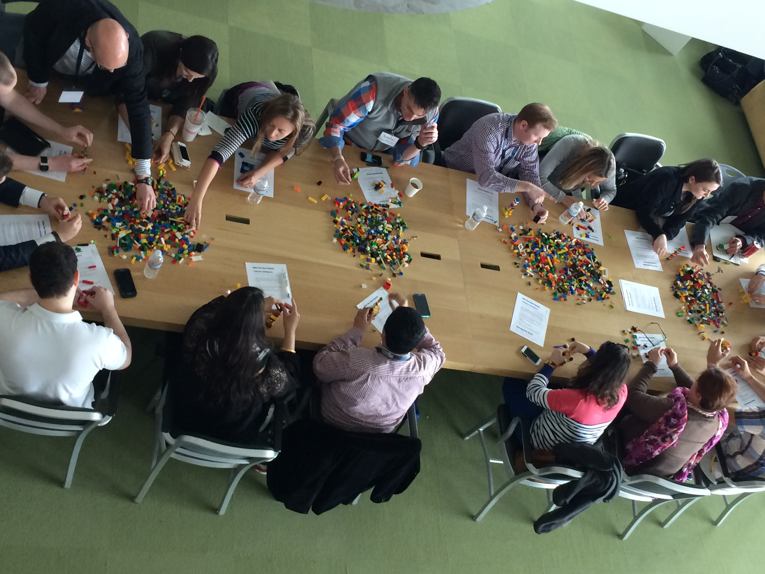 Lego Serious Play lean-in style of meeting