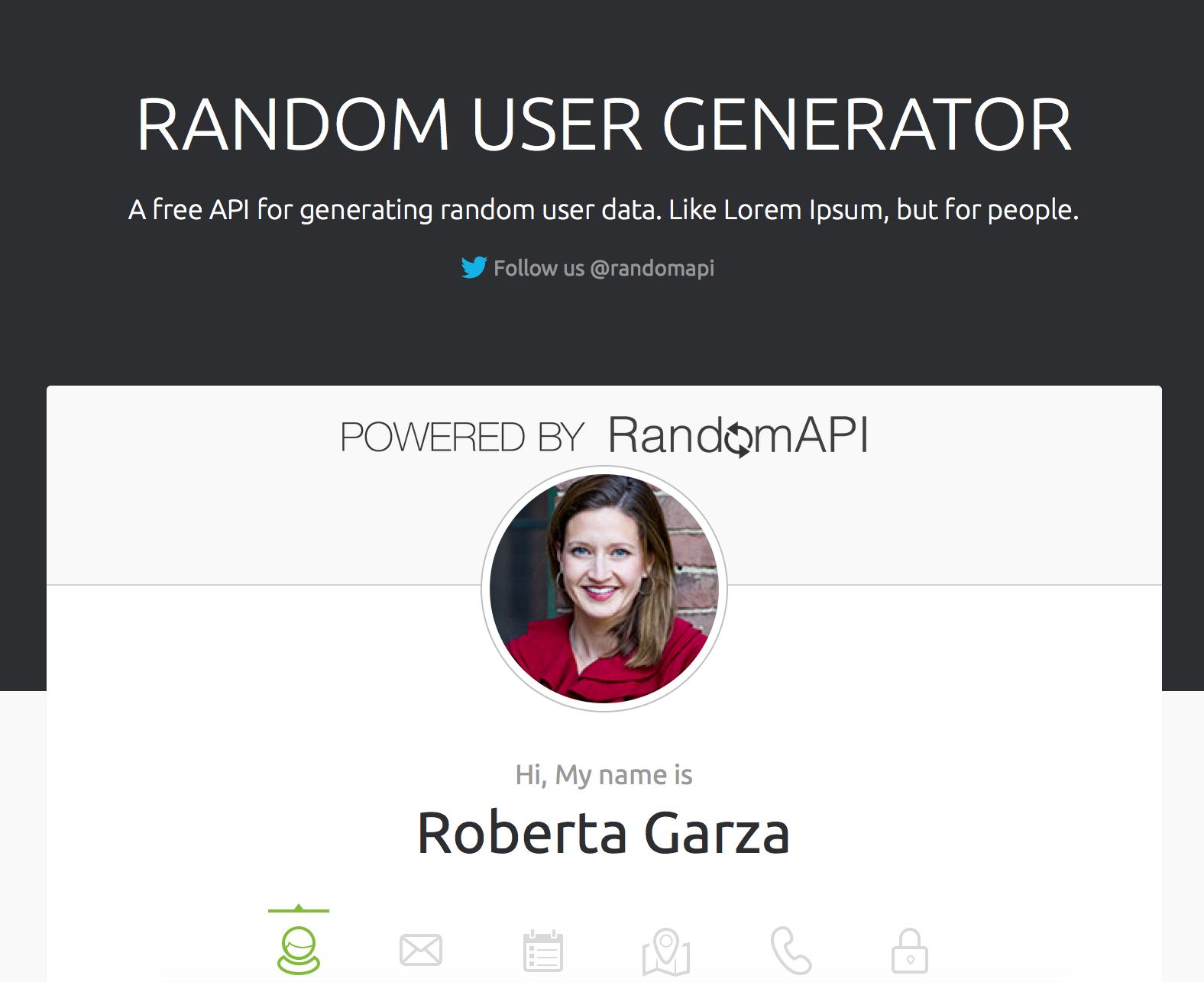 The Random User Generator
