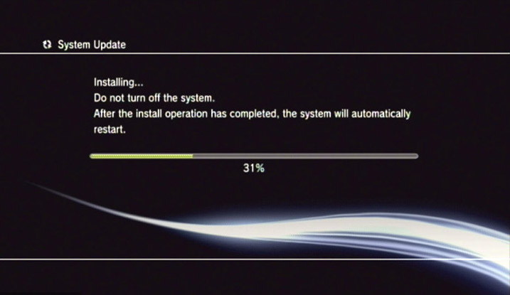 Look familiar? System updates from a PS3 require user attention and initiation