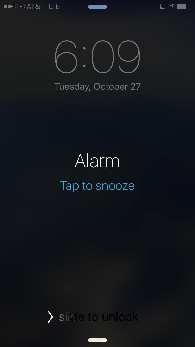What's the problem with this design, keeping in mind that at this moment, the alarm is sounding, and you have just woken up?