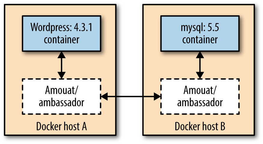 Fully configured Docker linking using the Ambassador pattern.