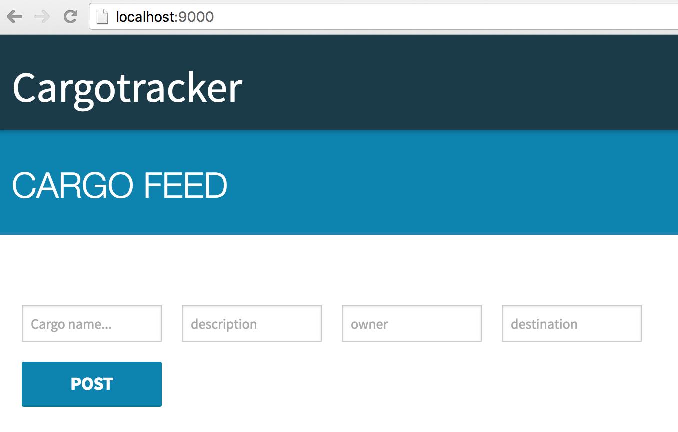 Cargo tracker Start Screen