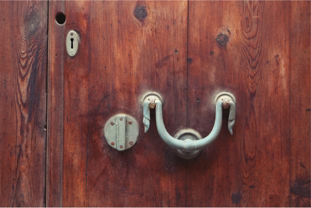 A hardwood door feels solid and satisfying