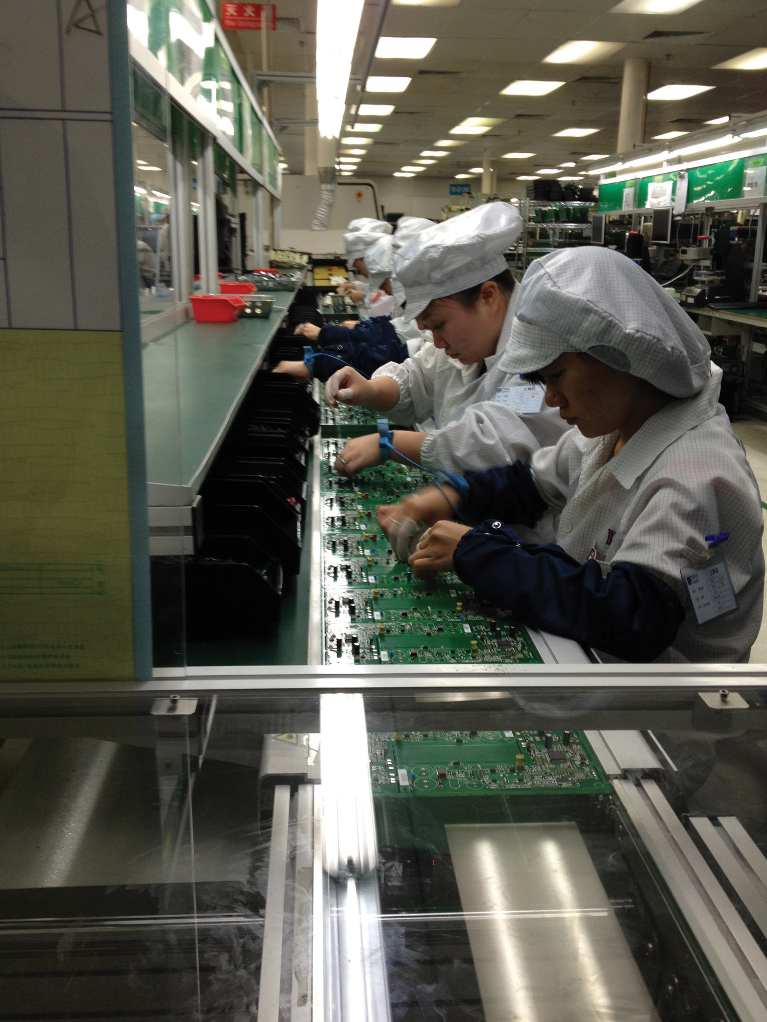The Future Of Product Design Oreilly Media It Comes To Sustainable If Has A Circuit Board Factory Workers In China Assemble Boards Photo Courtesy Dragon Innovation