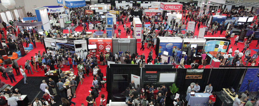 OSCON 2014 show floor