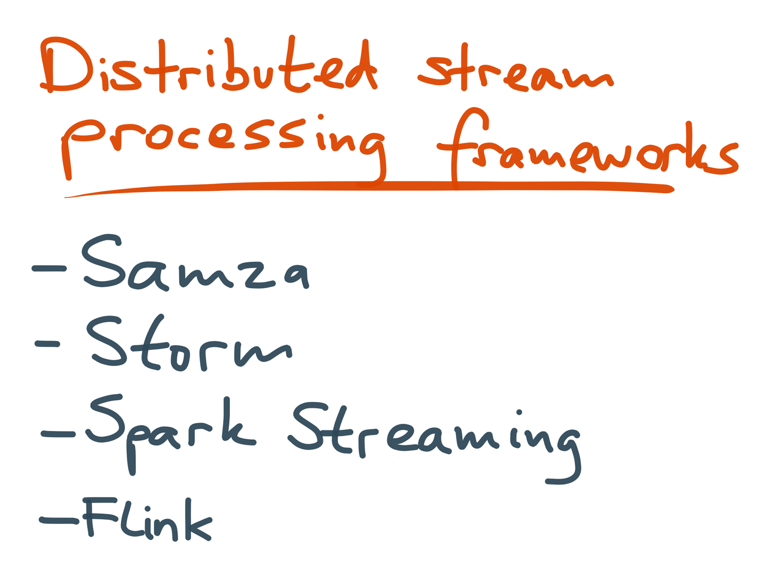 List of distributed stream processing frameworks.