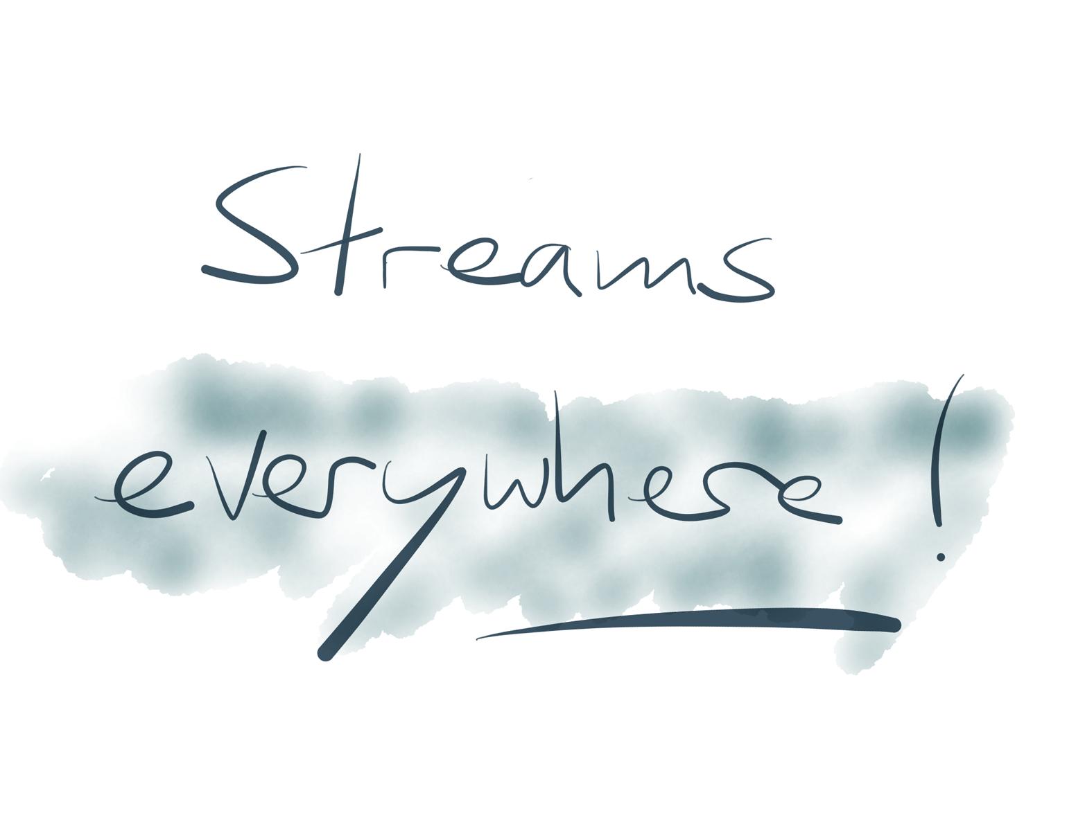 Event streams are a splendid idea. We should put them everywhere.