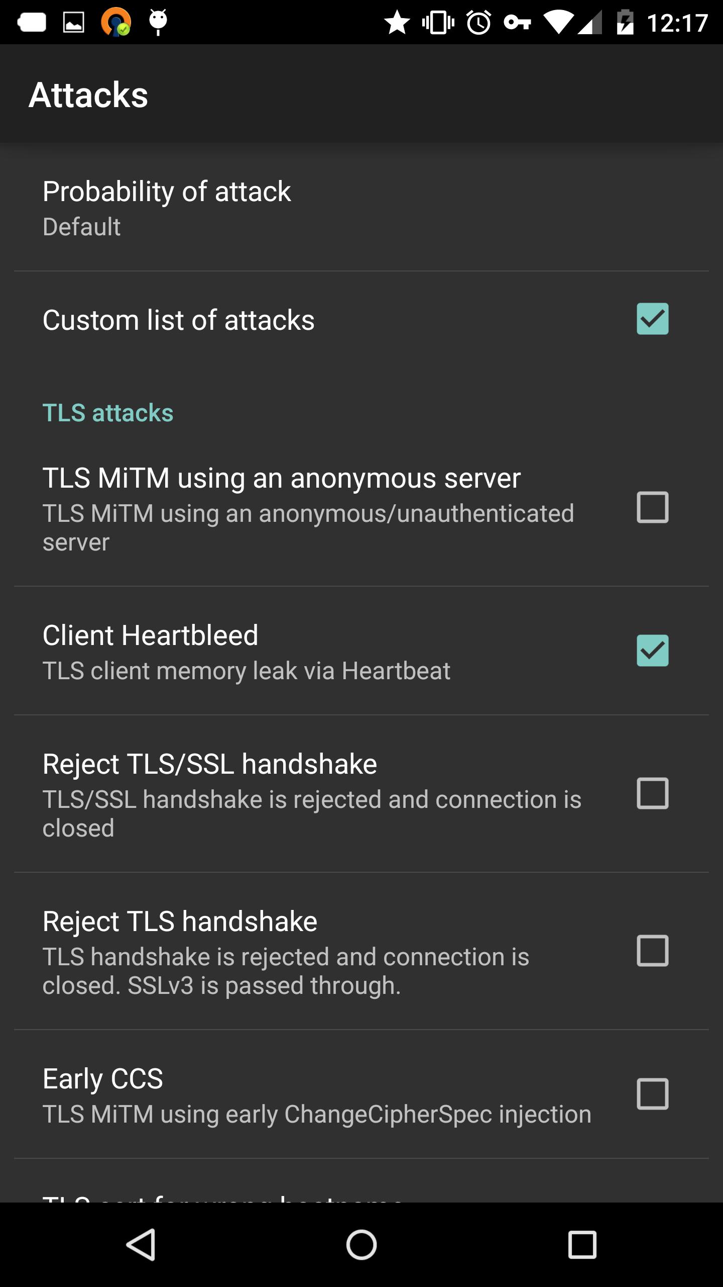 NoGoToFail attack menu