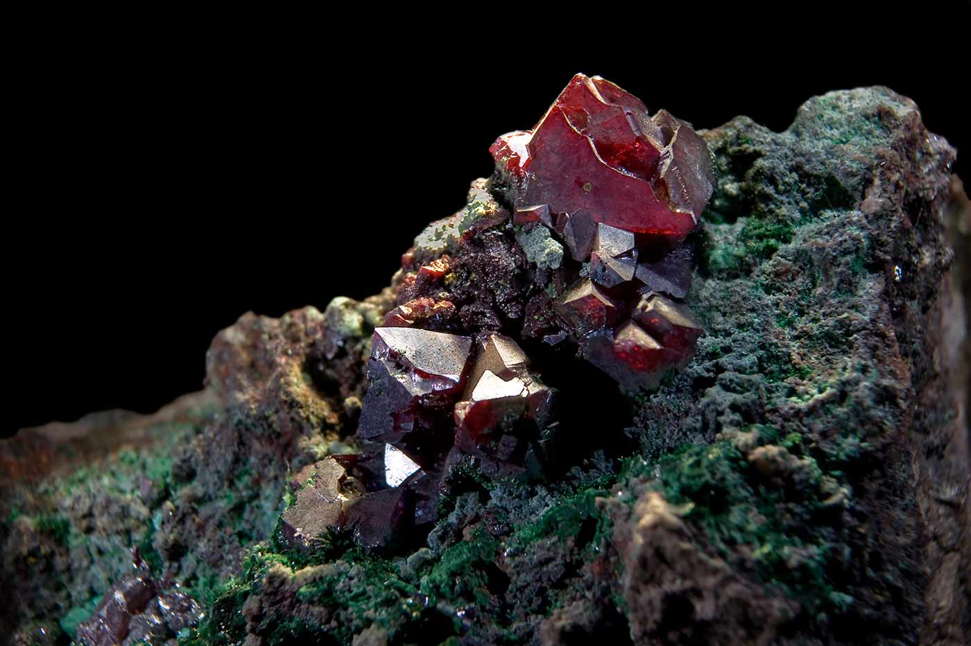 The copper mineral cuprite.