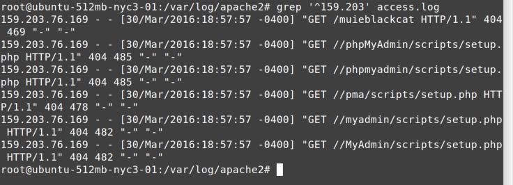 grep 159.203 command