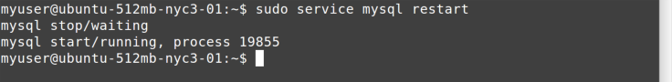 service restart command