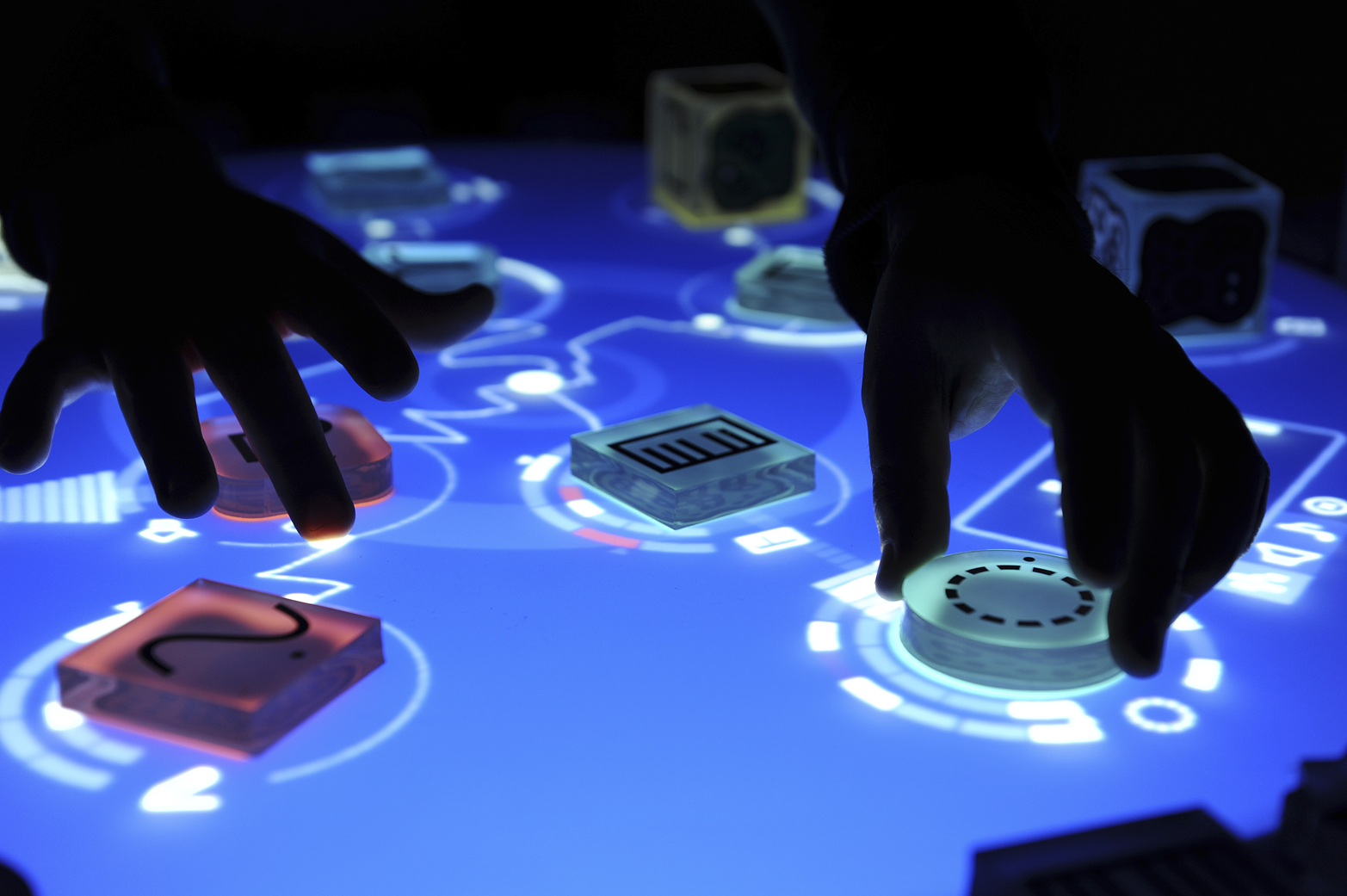 The Reactable is a musical instrument with a tangible interface (image: Reactable/Massimo Boldrin).