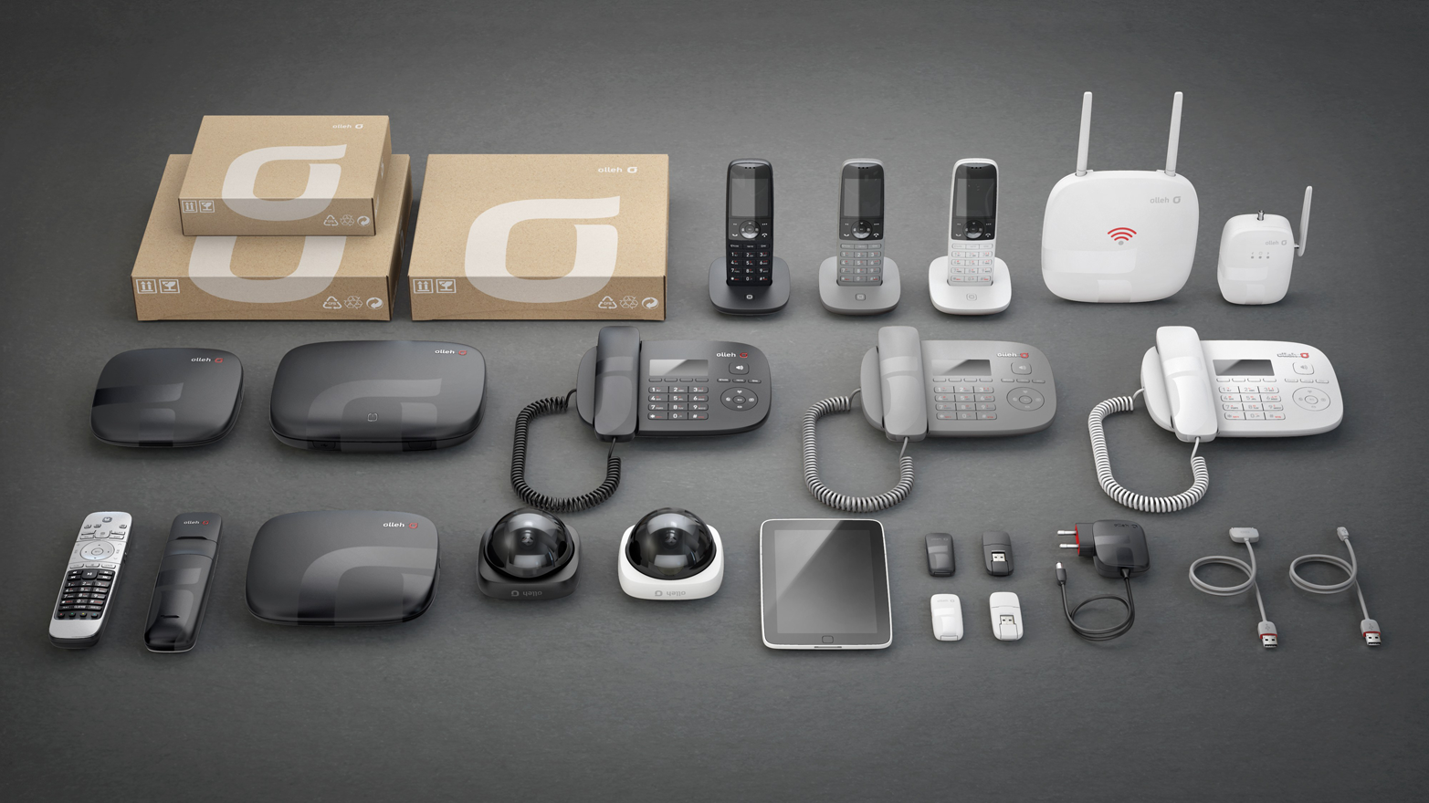 Korea Telecom range of products unified by a common design language (image: Seymourpowell).